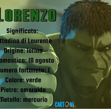 Lorenzo significato e origine del nome - Cartoni animati