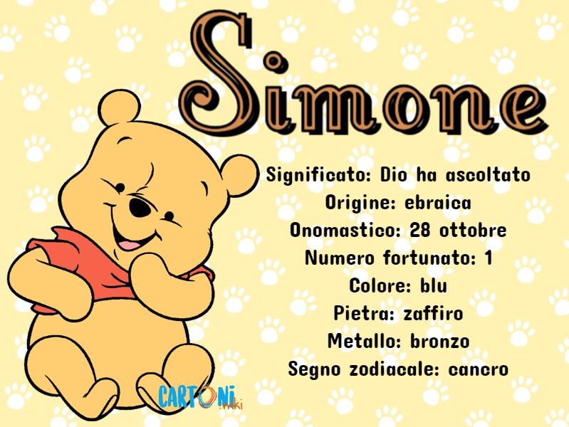 Simone significato, origine del nome e altre curiosità - Cartoni animati