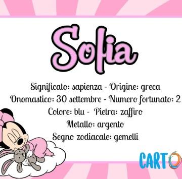 Sofia significato nome - Cartoni animati