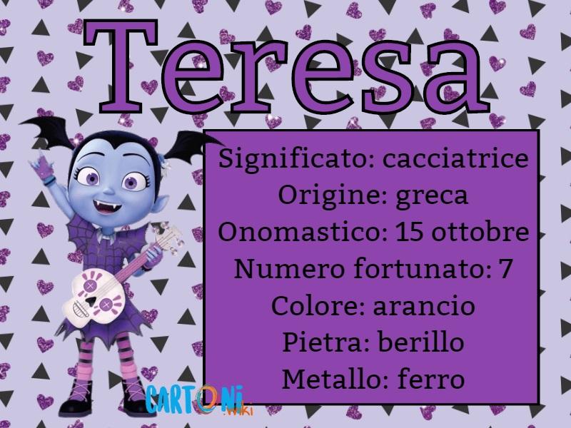 Teresa significato e origine del nome - Cartoni animati