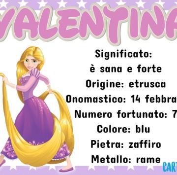 Valentina significato del nome e origine - Cartoni animati