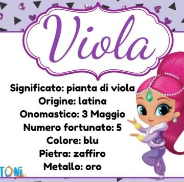 Viola scopri il significato del nome - Cartoni animati