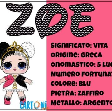 Zoe significato del nome e origine - Cartoni animati