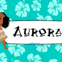 Aurora etichetta quaderni Vaiana - Aurora