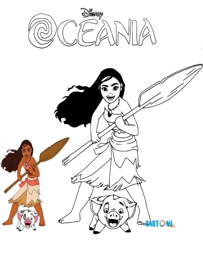 Oceania Disegni Da Colorare Cartoni Animati