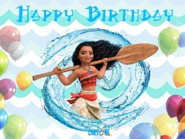 Moana Happy birthday