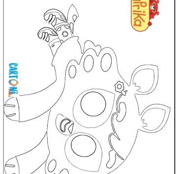 Colora Olivia del cartone Paprika - Cartoni animati