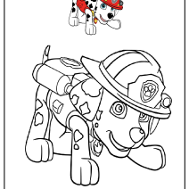 Marshall Paw Patrol da colorare - Disegni da colorare