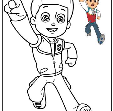 Paw Patrol disegni da colorare - Cartoni animati