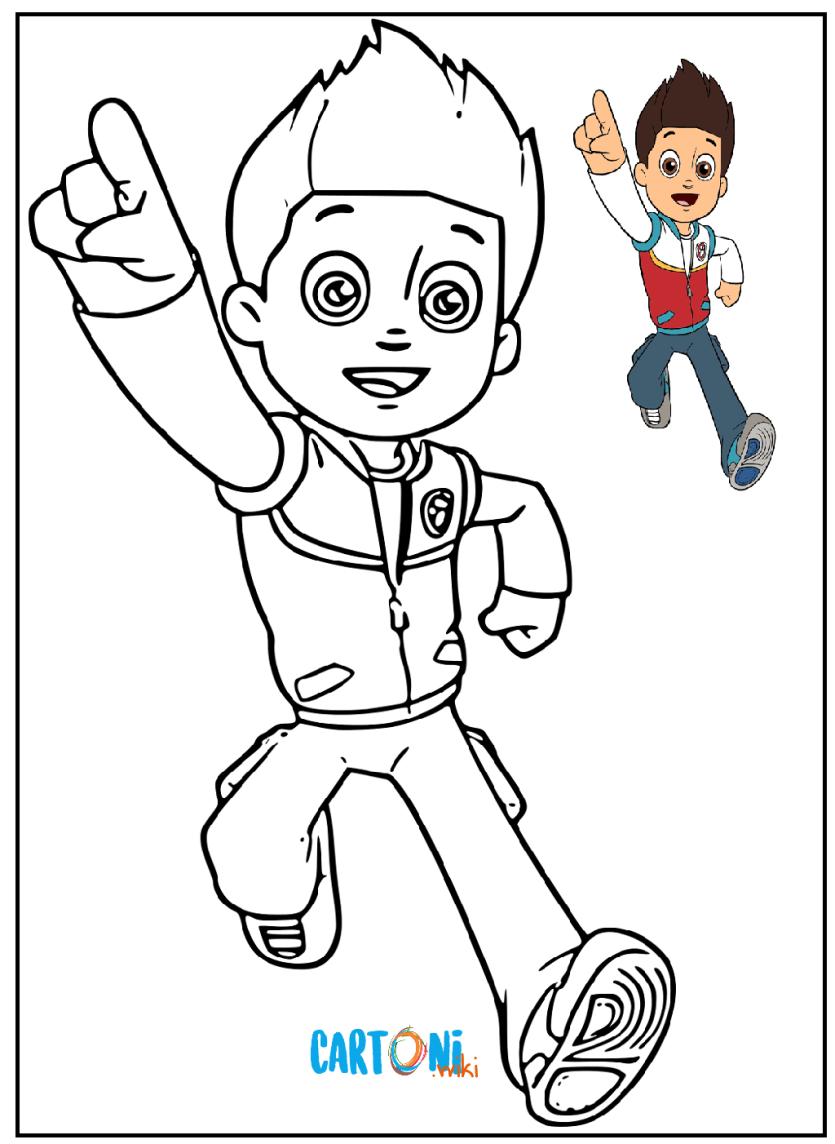 Paw patrol disegni da colorare cartoni animati for Cartoni animati da stampare e colorare