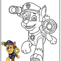 Chase Paw Patrol da colorare - Disegni da colorare