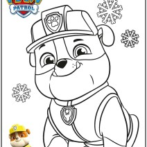 Rubble Paw Patrol da colorare - Disegni da colorare