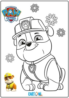 Rubble Paw Patrol da colorare