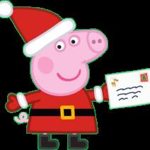 Immagini Peppa Pig vestita da babbo Natale - Clipart