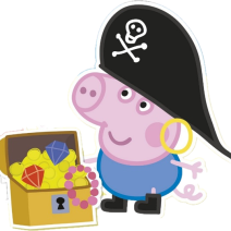 George pig Pirate clipart free download - Clipart