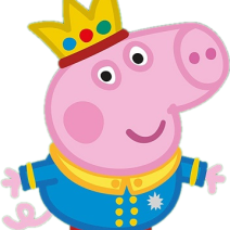 George Pig Prince Free Clipart - Clipart
