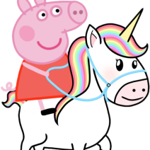 Peppa Pig unicorn clipart  - Clipart