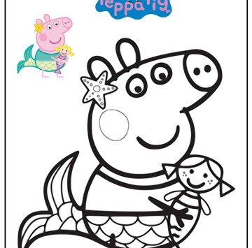 Disegno Peppa Pig Da Colorare.Peppa Pig Disegni Da Colorare Cartoni Animati