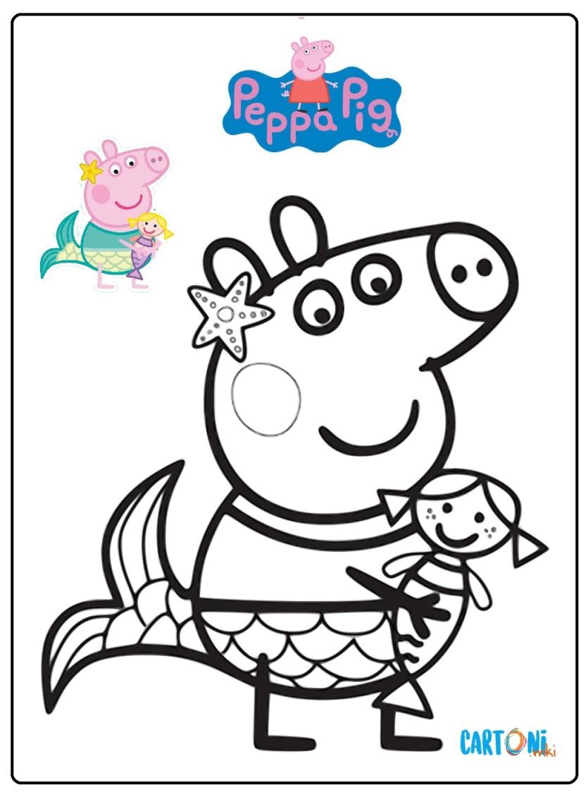 Disegni Da Stampare E Colorare Peppa Pig