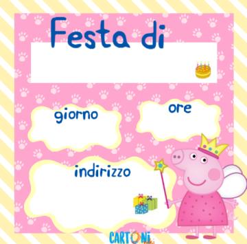 Peppa Pig inviti feste compleanno - Cartoni animati