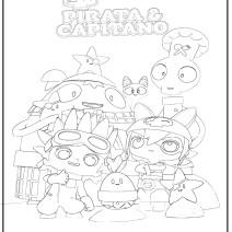 Stampa e Colora Pirata & Capitano - Cartoni animati