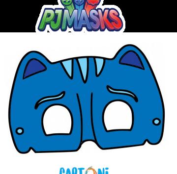Maschera di Gattoboy dei Superpigiamini - Cartoni animati