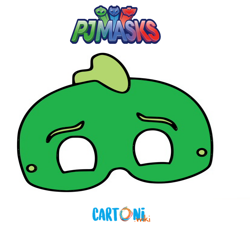 Stampa la maschera di Geco dei Pj Masks - Cartoni animati