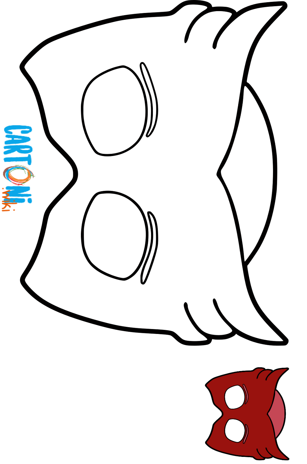Maschera Gufetta Da Colorare Cartoni Animati