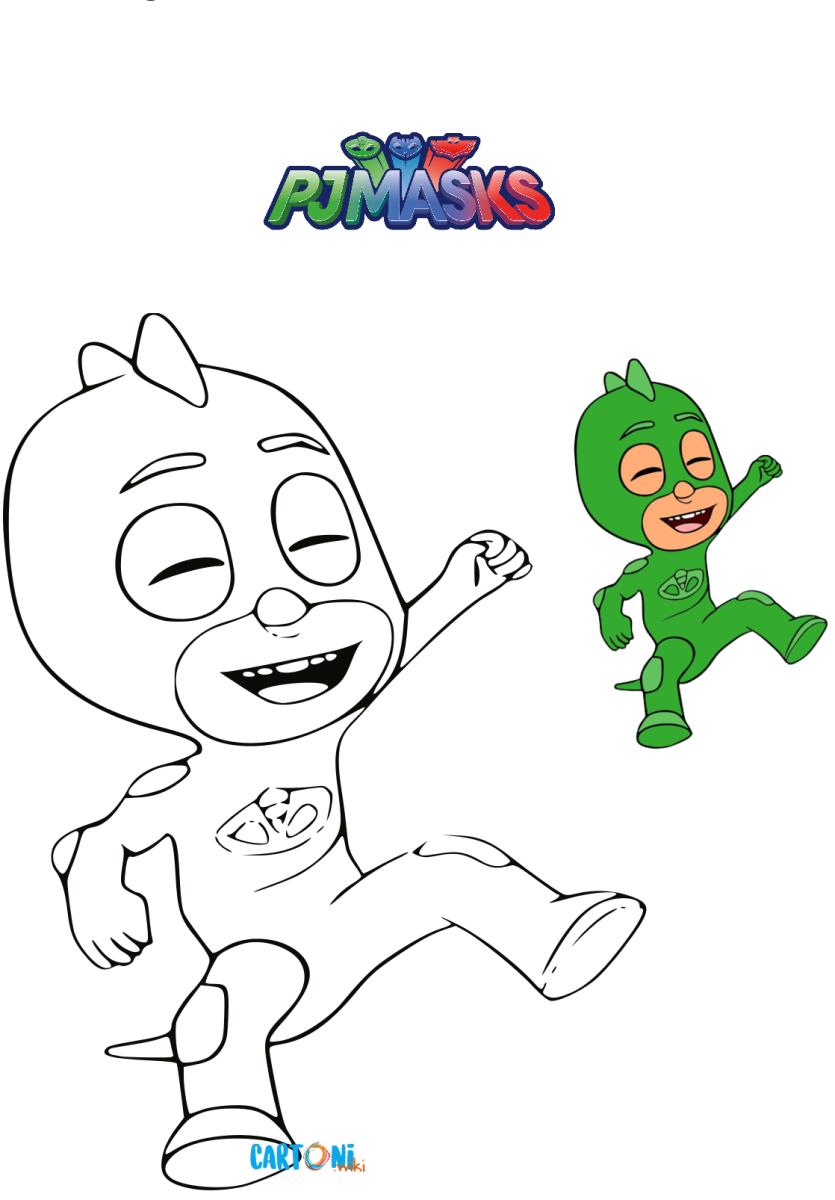 Colora geco dei superpigiamini cartoni animati for Immagini super pigiamini da stampare