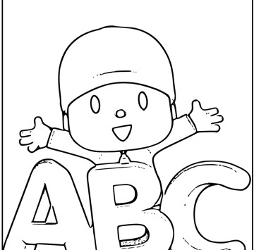 Pocoyo coloring page - Cartoni animati