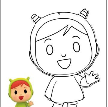 Pocoyo e Nina da colorare - Cartoni animati