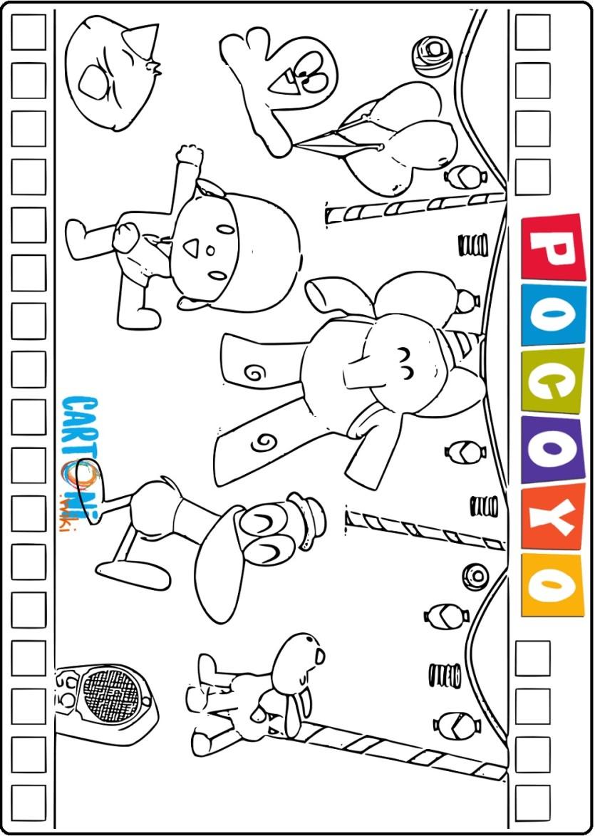 Pocoyo disegni da stampare - Cartoni animati