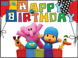 Pocoyo Happy birthday Card Printable