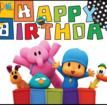 Pocoyo Happy birthday Card Printable - Cartoni animati