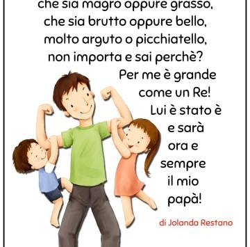 Poesia festa del pap� per la scuola primaria - Cartoni animati