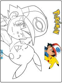 Disegno Pokémon Pikachu da colorare - Stampa e colora