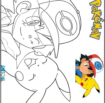 Disegno Pokémon Pikachu da colorare - Cartoni animati