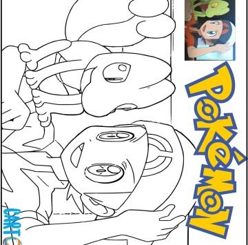 Disegno Pokémon Rubino Omega e Pokémon Zaffiro Alpha - Cartoni animati