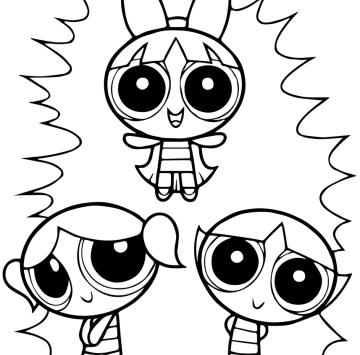Stampa e Colora Powerpuff girls - Cartoni animati