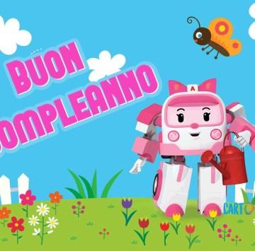 Buon compleanno con Amber di Robocar Poli - Cartoni animati