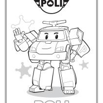 Colora Poli di Robocar Poli - Disegni da colorare