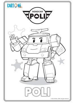 Colora Poli di Robocar Poli