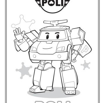 Colora Poli di Robocar Poli - Cartoni animati