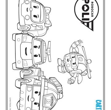 Robocar poli disegno da colorare - Cartoni animati