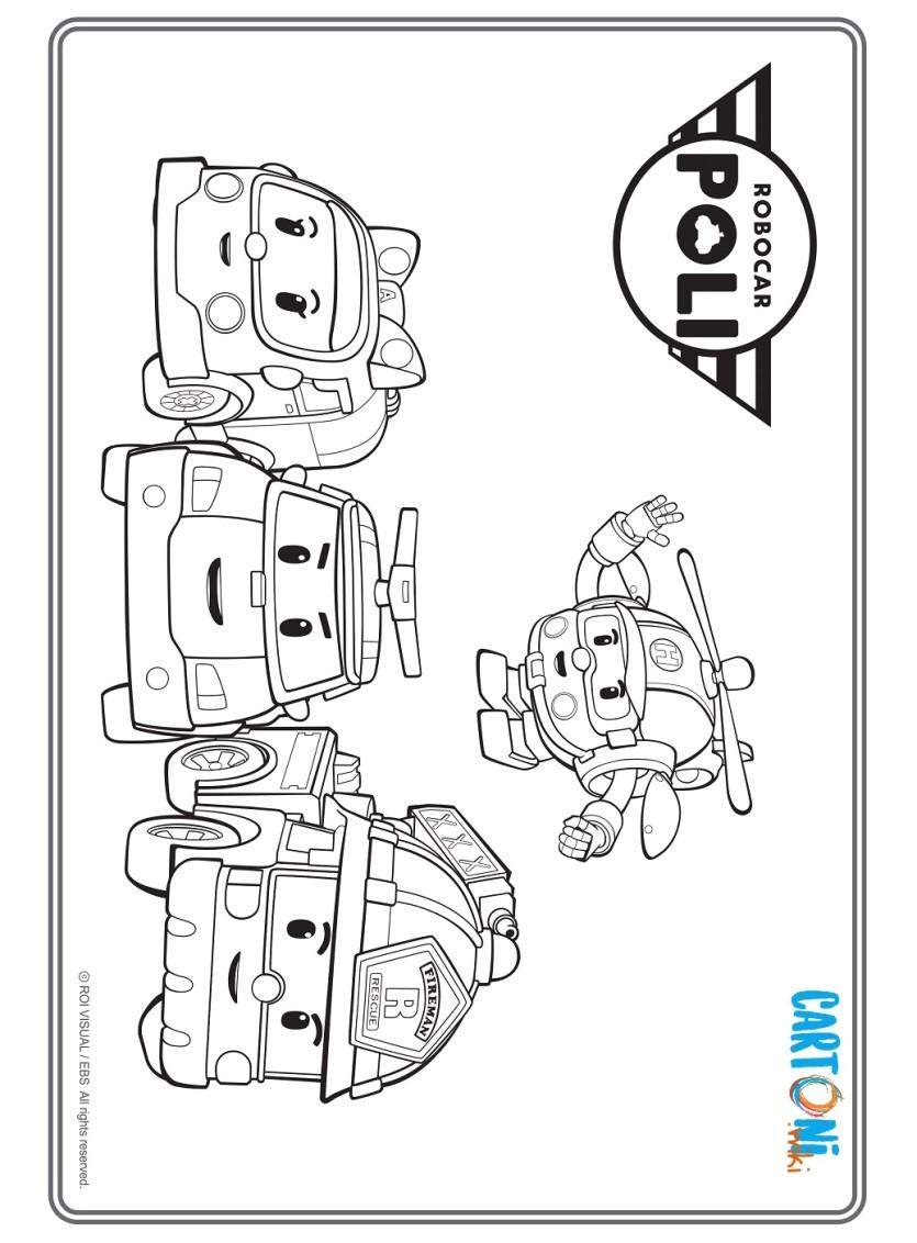 Robocar Poli Disegno Da Colorare Cartoni Animati