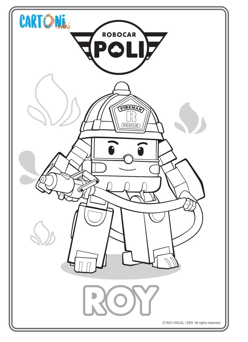Colora roy di Robocar Poli - Cartoni animati