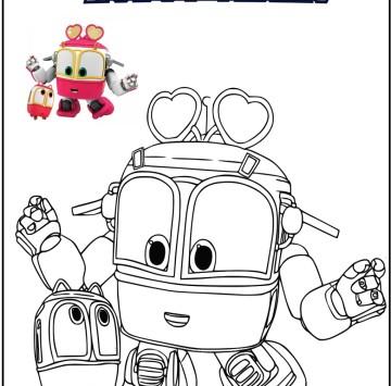 Robot trains disegni da colorare - Cartoni animati