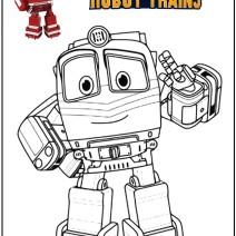 Stampa e colora Robot Trains - Stampa e colora