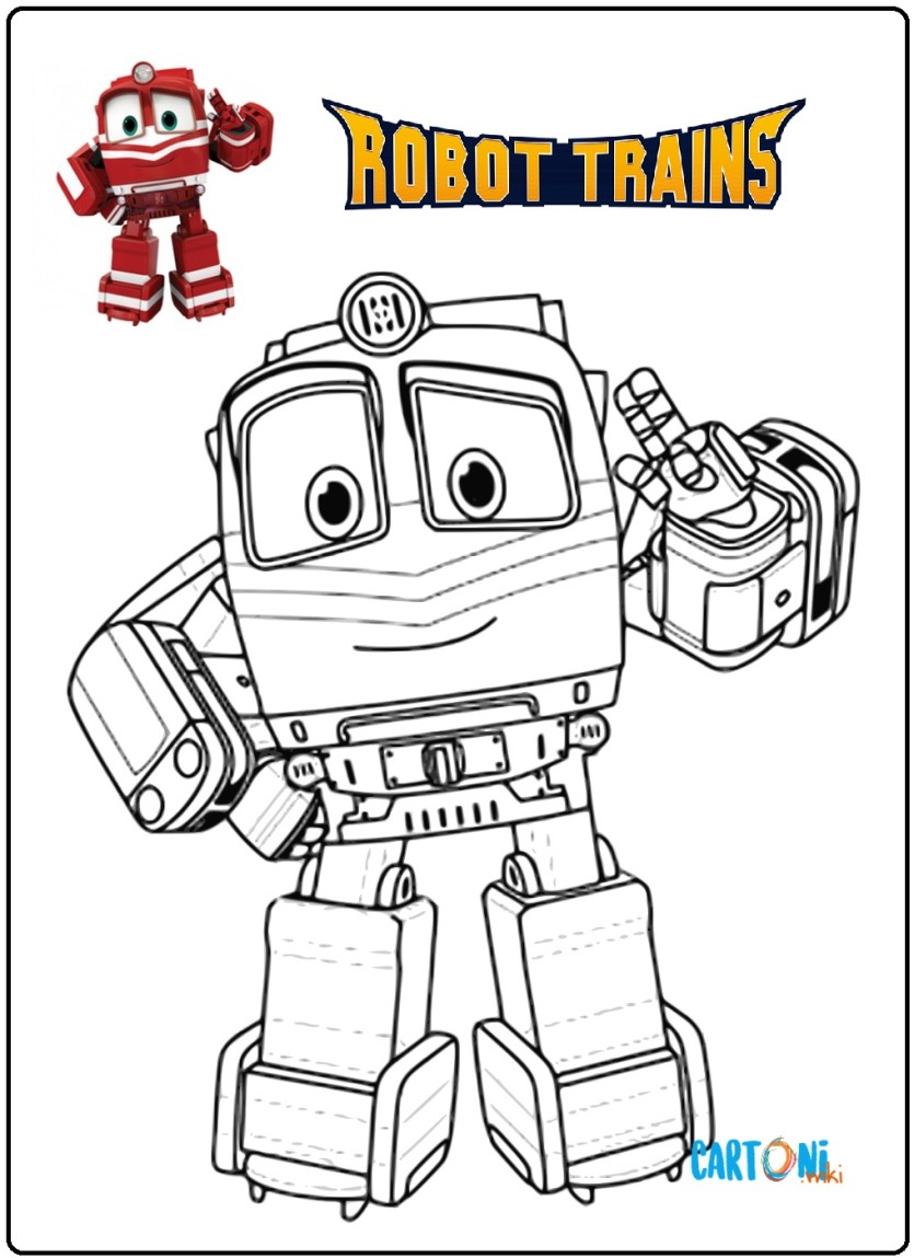 Stampa E Colora Robot Trains Cartoni Animati