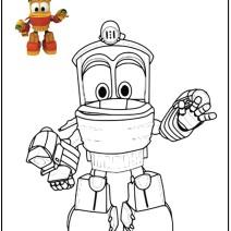 Robot trains coloring pages - Disegni da colorare
